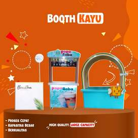 Booth rombong semi container full stiker