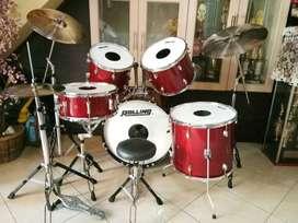 Drum set Rolling Custom Red Cherry
