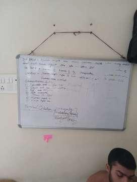White board cum chalk board