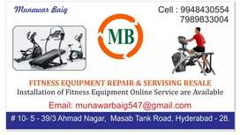 All brand fitness equipments repair and service resale also