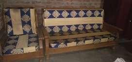 Sofa set teakwood (sagoun)