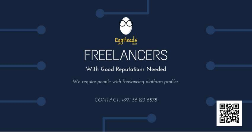 Freelancers with Good Reputation Needed 0