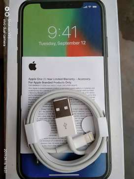 Brand new orignal certified apple iphone data cable with 1 yr waranty