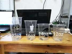 Gelas plastik di sablon terbaru CUP PP 12oz 8gram