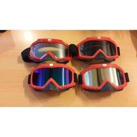 Kacamata motocross/ski/sepeda warna merah