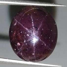 Batu Garnet Merah Terlangka Pancaran Bintang 6 Asli (kode : 138)