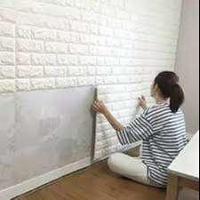 Wallpaper foam 3D Bata  Murah