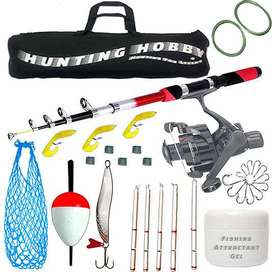 Fishing Spinning Rod, Reel, Accessories Combo Set, 7ft