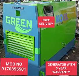 GENERATOR WITH 5 YEAR WARRANTY N FREE SERVICE N UNLOADING AT SITE