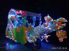 kereta kencana odong odong lampu hias mini coaster komedi putar PROMO