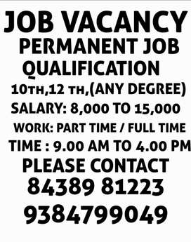 Job for fresher