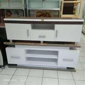 rak tv putih model terbaru siap antar ke tempat
