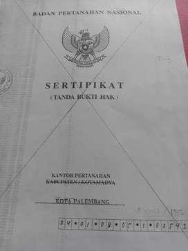 Jual tanah 542m2 aman bkn tanah sengketa surat menyurat sertifikat