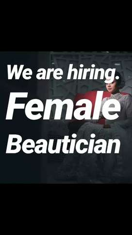Female beautician required