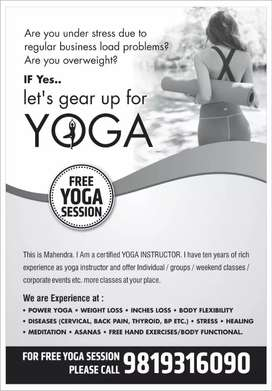 Certifiied yoga trainer.