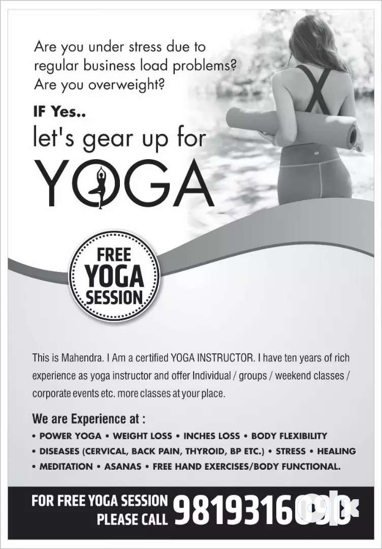 Certifiied yoga trainer. 0