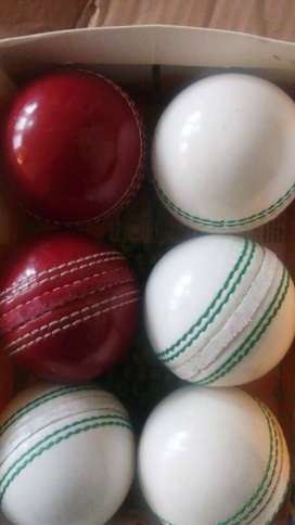 Cricket Test Match Ball Geniune Leather 5.5OZ Child Adult Academy Coun