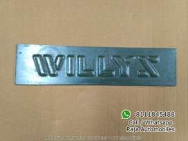 Wilys Jeep Name Plate