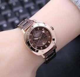 Jam tangan coach women brown rose gold mewah