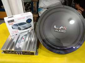 Power Audiobose 4 Channel 35.000w + Subwoofer Lm + Twitter