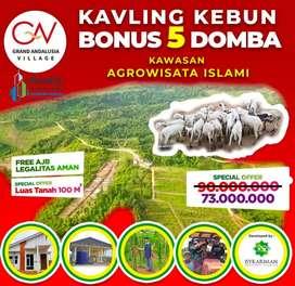 Jual tanah kavling murah di Bogor hanya 365jt 500m² bonus 25 domba