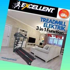 treadmill elektrik TL-618 G-38 alat olahraga lari