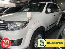[Lulus Inspeksi] Fortuner G-lux bensin 2012 low Km