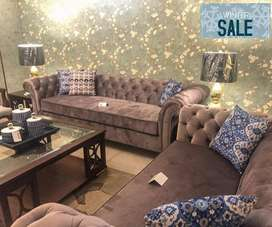 Luxury  Chesterfield Brand New Sofa By Furniture Town.
