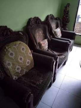Set Kursi ruang tamu kayu jati