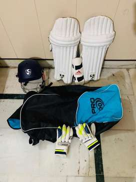 SG Cricket kit with all new things