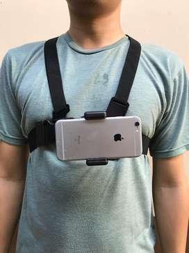 Chest strap handphone/gopro
