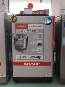 Mesin cuci sharp top loading 8kg