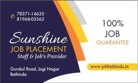 All type Job in Bathinda