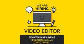 Video Editor Required For Office