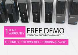Starting Rs.4500 (Computer) - Starting Rs.2200 (Monitor) - Warranty