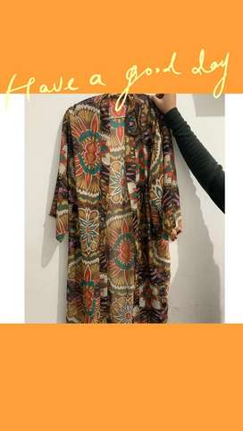 Cardigan shifon tebal