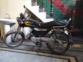 Pak hero 70 cc motor cycle for sale