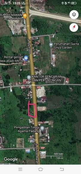 Dijual tanah murah strategis pinggir jln di jalan bypas padang SumBar