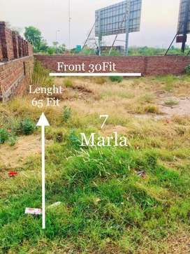 Urgent sell Golden Chance 7Marla very Good Plot For Sale..