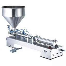 Stainless Steel Cream Hony Ginger Garlic Paste Liquid Filling Machine