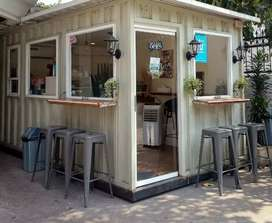Booth cafe booth restoran container cafe container coffee