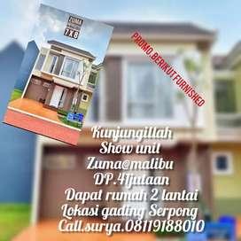 Zuma Rumah murah 2 lantai  digading Serpong udah furnish  DP.5%