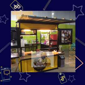 Booth Semi Container, Stand Booth, Gerobak Jualan, Rooftop dll