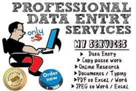 Data entry Operator freshers  experience