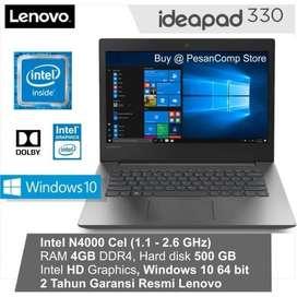 Laptop Lenovo 330 Cicilan Bisa Tanpa Kartu Kredit Free AdminDp900.000