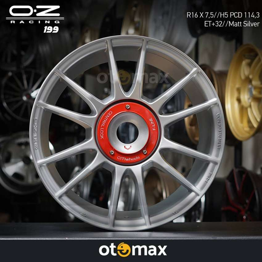 Velg Mobil OZ Racing (199) Ring 16 Matt Silver 0