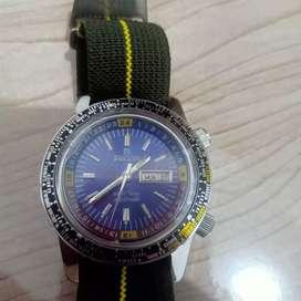 jam tangan ricoh world diver automatic blue dial