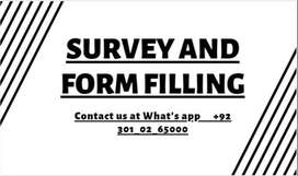 SURVEY AND FORM FILLING