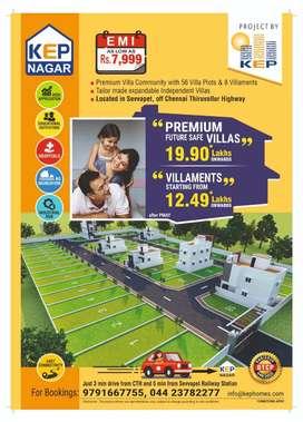 Future Safe Independent Villas in Thiruvallur @19.9 lacs* onwards.