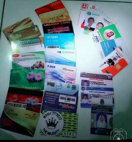 id card member  k. parkir, Magnetik, rfid, k. siswa, k.hotel,dll